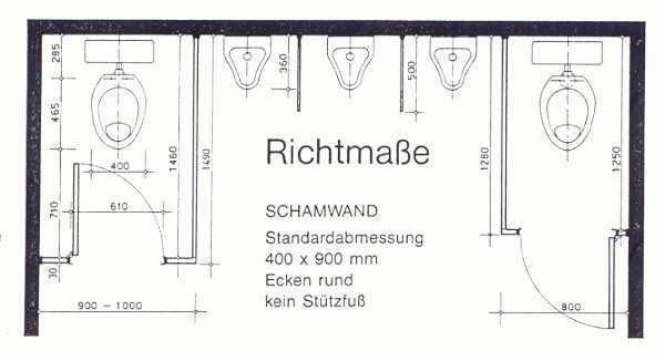mindestma e wc kabine eckventil waschmaschine. Black Bedroom Furniture Sets. Home Design Ideas