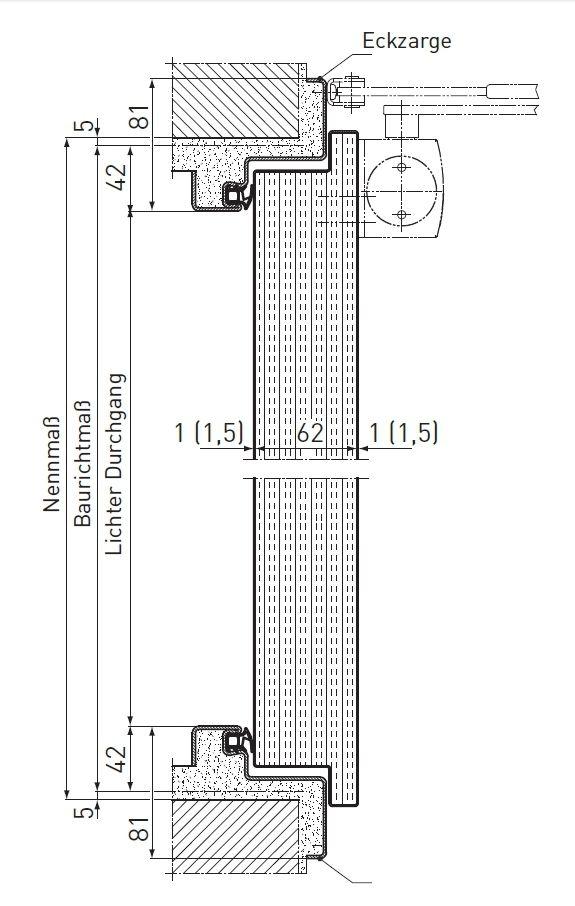 Tür vertikalschnitt  Feuerschutztüren T30 (EI2 30) - NovoPorta Premio - ais-online.de