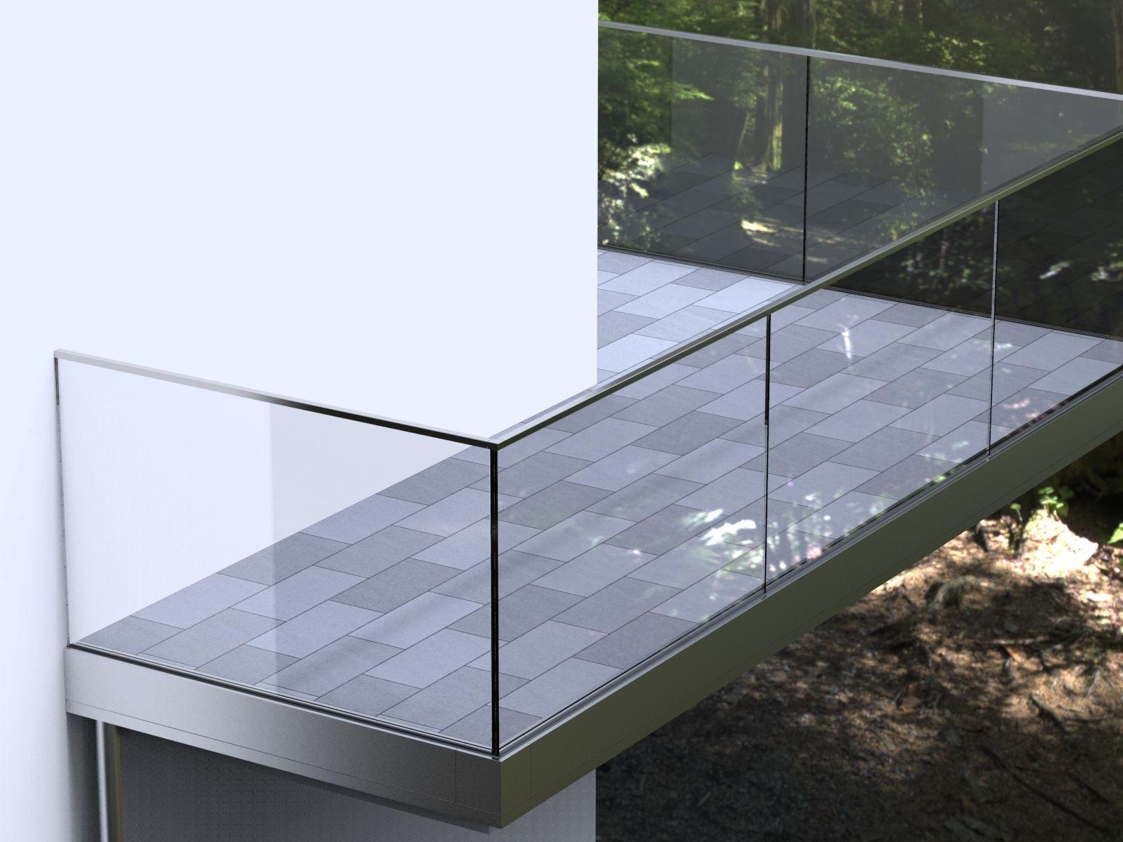 Gelandersystem Aqua Viva Mit Integrierter Balkon Entwasserung Ais