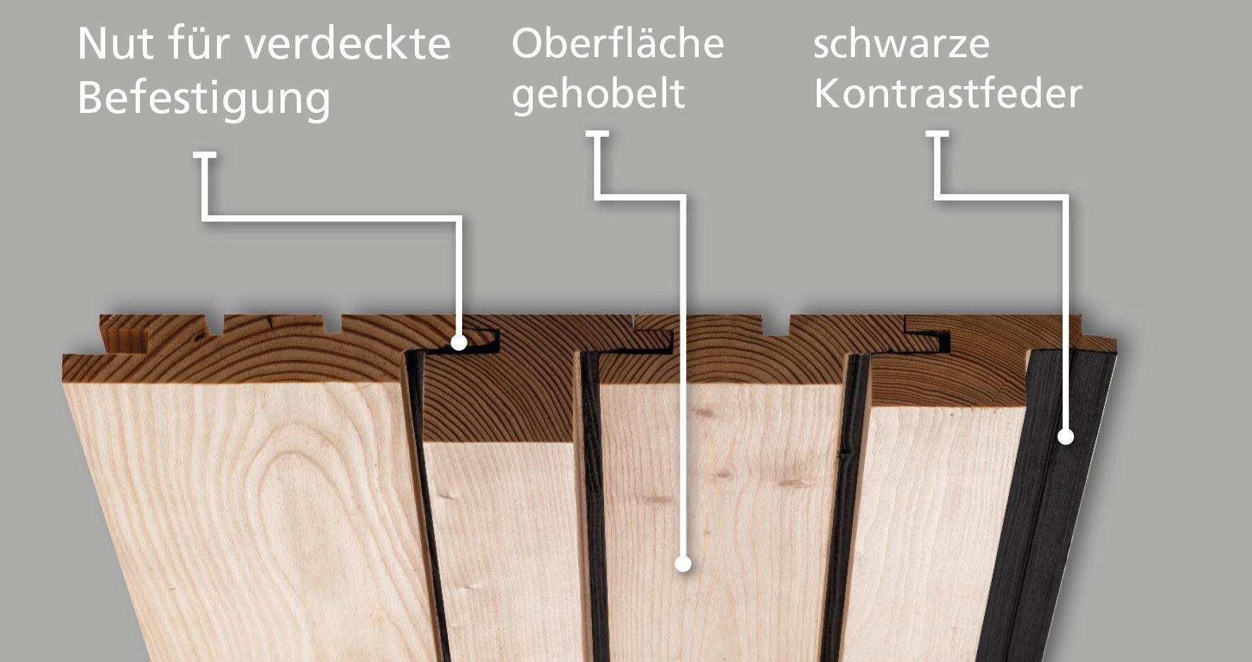 holz fassadenprofile mit nut und feder horizontal oder vertikal ais. Black Bedroom Furniture Sets. Home Design Ideas