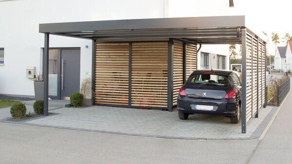 Garage mit carport flachdach  Garagen + Carports - ais-online.de