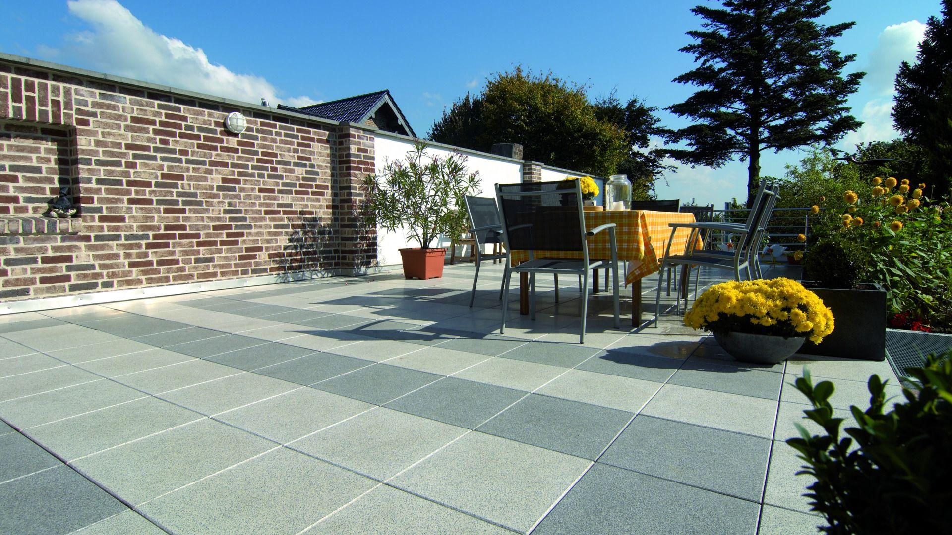 Terrassenplatten Aisonlinede - Terrassenplatten weiß 40x40